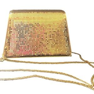 Whiting & Davis Gold Lamay Evening Bag